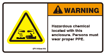 Hazardous chemical located with this enclosure